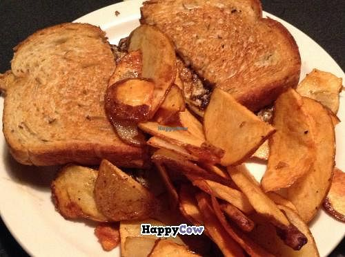 """Photo of Bleu Pub  by <a href=""""/members/profile/Julie%20R"""">Julie R</a> <br/>My super-greasy sandwich and potato chips.  It was a BLT and I left off the B.  There was a fried egg on it <br/> July 30, 2013  - <a href='/contact/abuse/image/37437/52472'>Report</a>"""