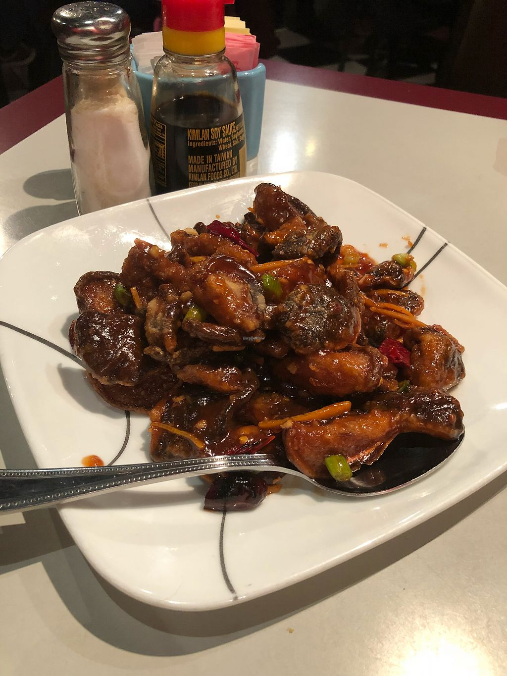 """Photo of Yu Garden Asian Cuisine  by <a href=""""/members/profile/Genki"""">Genki</a> <br/>Vegan orange chicken <br/> February 17, 2018  - <a href='/contact/abuse/image/37452/360200'>Report</a>"""