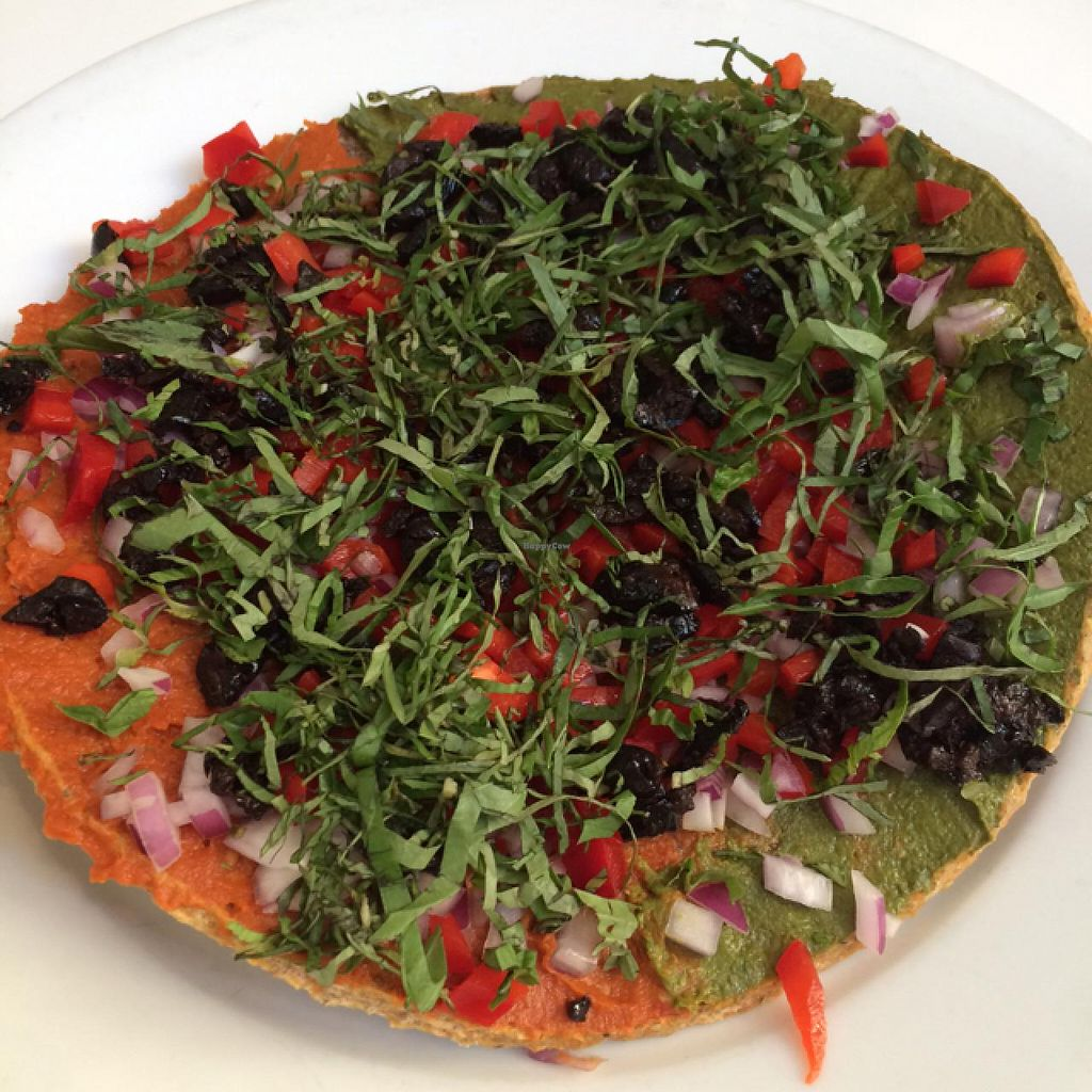 """Photo of Peacefood Cafe - Downtown  by <a href=""""/members/profile/DaniM"""">DaniM</a> <br/>Raw pizza <br/> June 3, 2015  - <a href='/contact/abuse/image/37453/104569'>Report</a>"""
