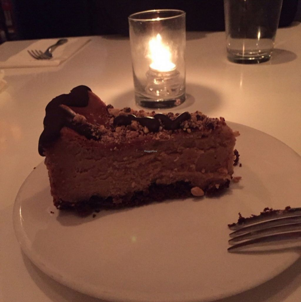 """Photo of Peacefood Cafe - Downtown  by <a href=""""/members/profile/Sassburger"""">Sassburger</a> <br/>Peanut Butter Cheesecake  <br/> December 2, 2015  - <a href='/contact/abuse/image/37453/126915'>Report</a>"""