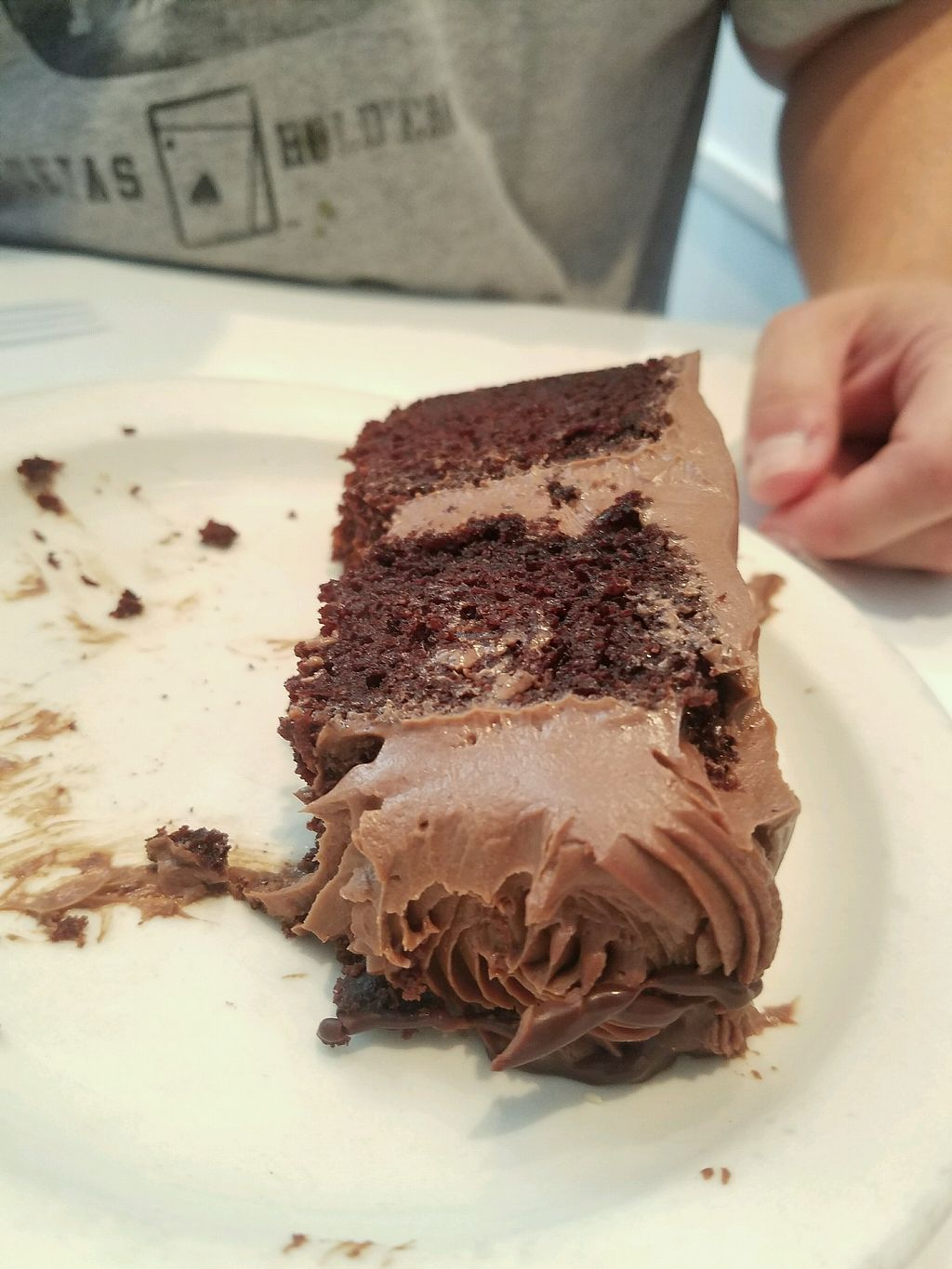 """Photo of Peacefood Cafe - Downtown  by <a href=""""/members/profile/benthere"""">benthere</a> <br/>Mostly eaten chocolate cake. oops!  <br/> October 5, 2017  - <a href='/contact/abuse/image/37453/312086'>Report</a>"""