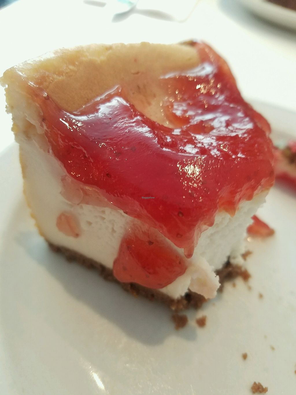 """Photo of Peacefood Cafe - Downtown  by <a href=""""/members/profile/benthere"""">benthere</a> <br/>Mostly eaten strawberry cheesecake. Sooo amazing!! <br/> October 5, 2017  - <a href='/contact/abuse/image/37453/312087'>Report</a>"""
