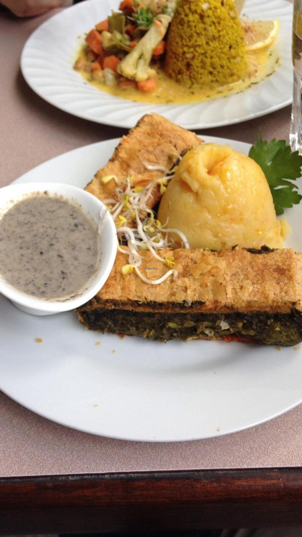 """Photo of Harvest Cafe Bistrot  by <a href=""""/members/profile/Leah%20Stolar"""">Leah Stolar</a> <br/>Daily Special - Mushroom Strudel <br/> July 16, 2014  - <a href='/contact/abuse/image/37469/74180'>Report</a>"""