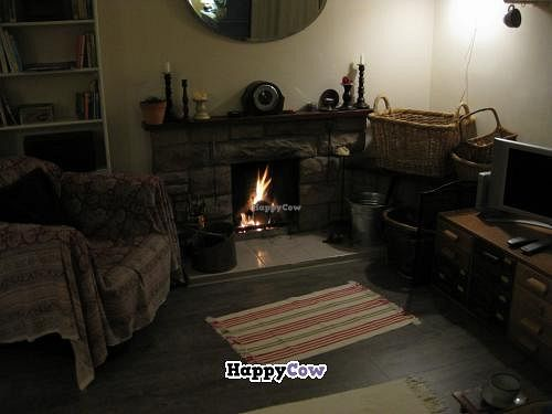 """Photo of Loaf BnB  by <a href=""""/members/profile/svenja"""">svenja</a> <br/>Cosy fire in the guests' lounge. I loved it <br/> October 27, 2013  - <a href='/contact/abuse/image/37483/57378'>Report</a>"""