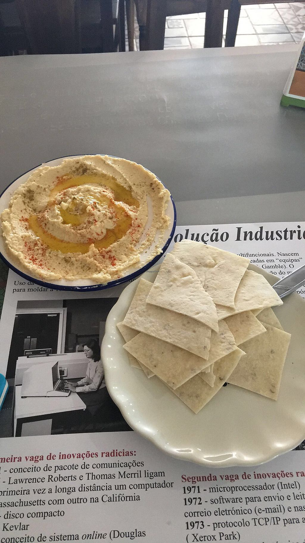 """Photo of Sabores do Sebouh  by <a href=""""/members/profile/DanielaCavallaro"""">DanielaCavallaro</a> <br/>hummus plate <br/> July 18, 2017  - <a href='/contact/abuse/image/37498/281741'>Report</a>"""