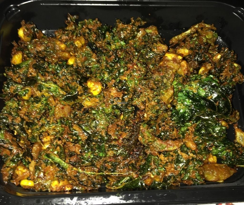 """Photo of The Herb Box  by <a href=""""/members/profile/Tigra220"""">Tigra220</a> <br/>Kale, Corn, & Sweet Onion Pakora <br/> August 29, 2016  - <a href='/contact/abuse/image/37508/172095'>Report</a>"""