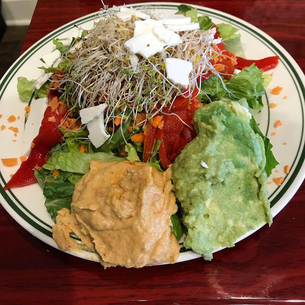 "Photo of Green Lotus Cafe  by <a href=""/members/profile/Sarah%20P"">Sarah P</a> <br/>Hummus salad made vegan <br/> November 16, 2017  - <a href='/contact/abuse/image/37523/326039'>Report</a>"