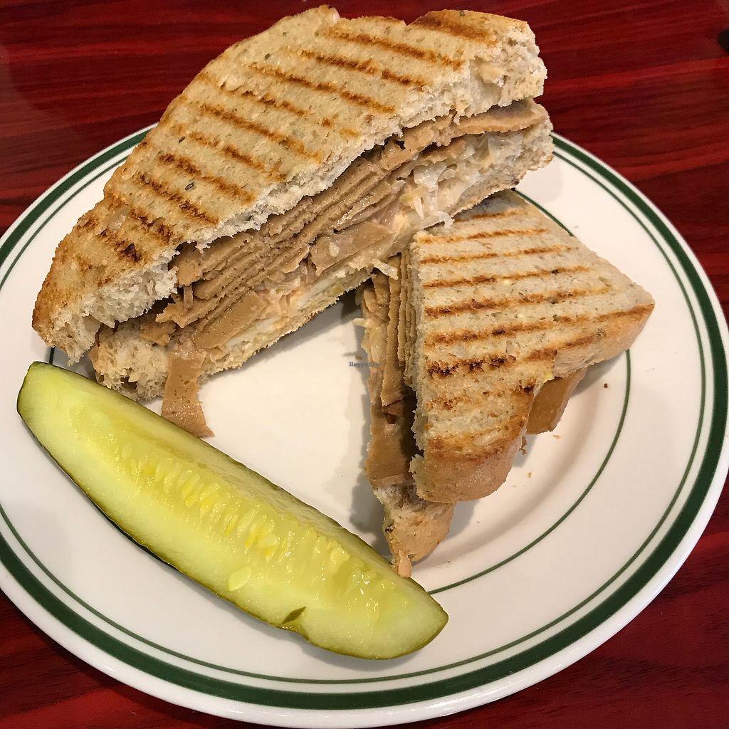 "Photo of Green Lotus Cafe  by <a href=""/members/profile/Sarah%20P"">Sarah P</a> <br/>Vegan Reuben <br/> November 16, 2017  - <a href='/contact/abuse/image/37523/326040'>Report</a>"