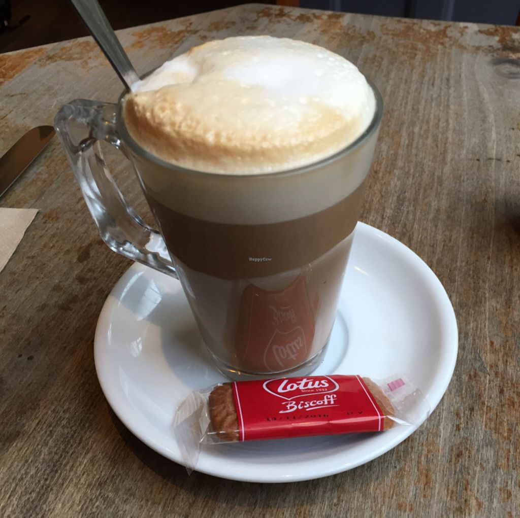 "Photo of Aubrey's Traditional Creperie  by <a href=""/members/profile/Chris_D"">Chris_D</a> <br/>Soya latte with a Lotus biscuit <br/> June 29, 2016  - <a href='/contact/abuse/image/37524/156774'>Report</a>"