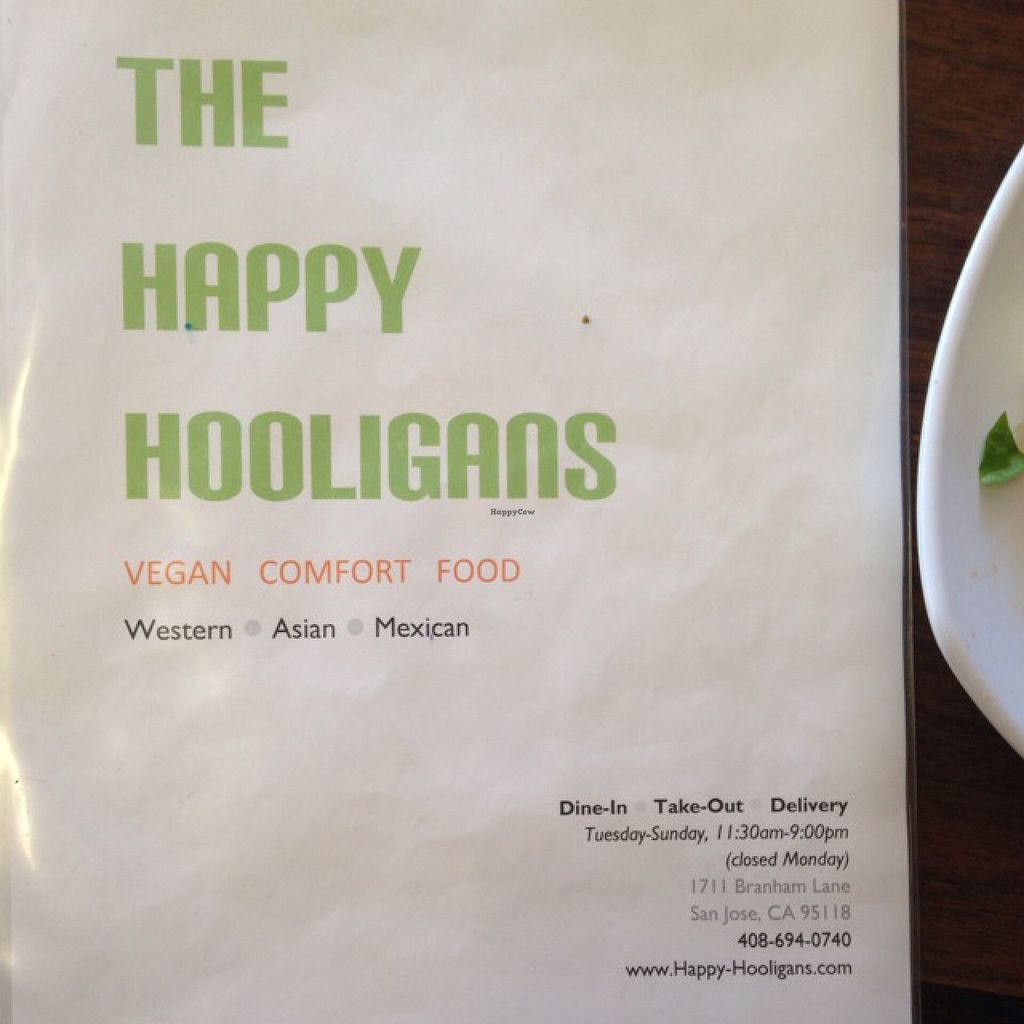 """Photo of The Happy Hooligans  by <a href=""""/members/profile/AliciaPiccolina"""">AliciaPiccolina</a> <br/>Menu cover  <br/> June 14, 2016  - <a href='/contact/abuse/image/3758/153920'>Report</a>"""