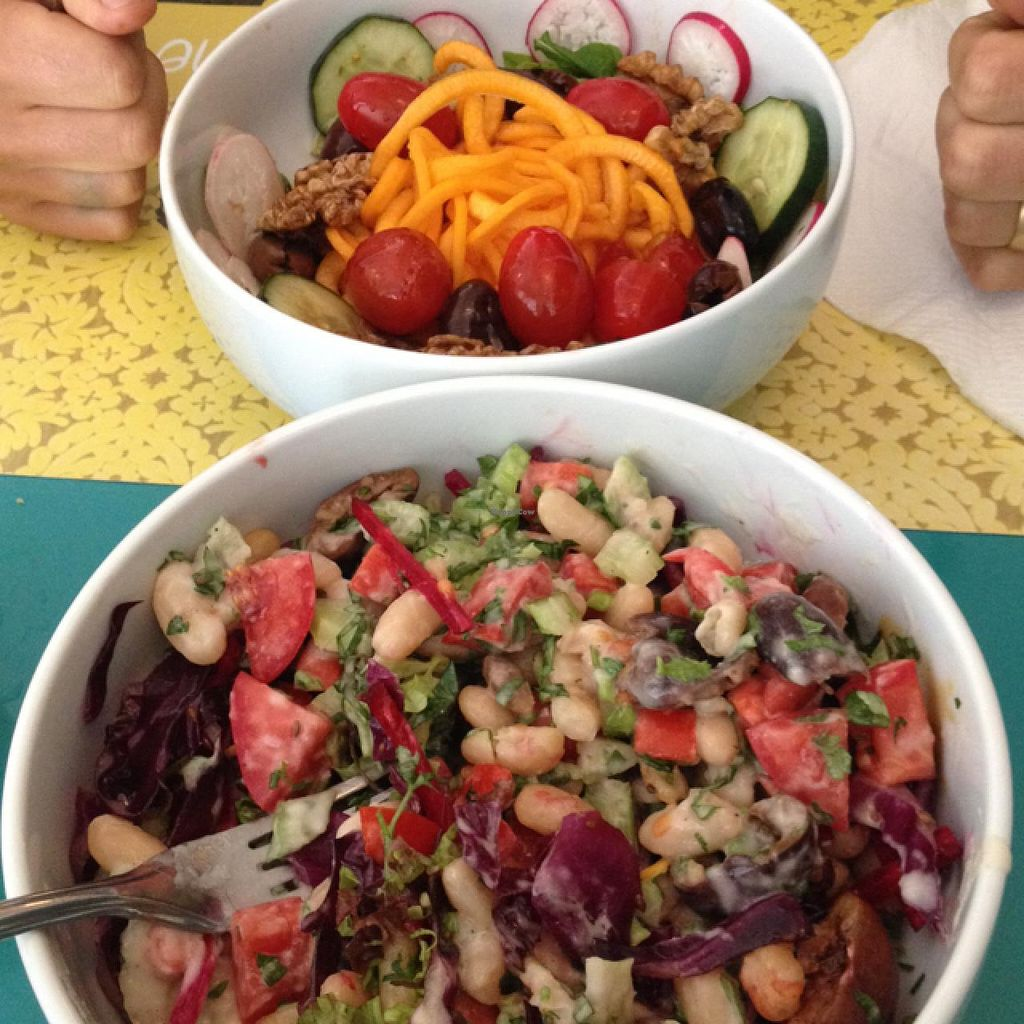 """Photo of Chirimoya  by <a href=""""/members/profile/Pearlpeachy"""">Pearlpeachy</a> <br/>pumpkin spaghetti salad and white bean salad <br/> April 11, 2015  - <a href='/contact/abuse/image/37591/98636'>Report</a>"""