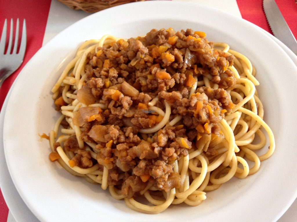 "Photo of Comida Naturista Irene's  by <a href=""/members/profile/monizebn"">monizebn</a> <br/>Spaghetti with bolognese sauce  <br/> November 2, 2016  - <a href='/contact/abuse/image/37618/186226'>Report</a>"