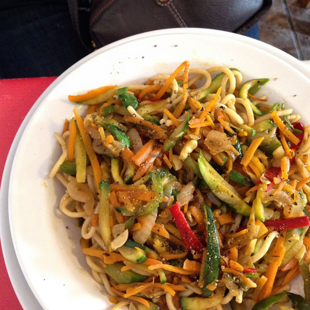 "Photo of Comida Naturista Irene's  by <a href=""/members/profile/monizebn"">monizebn</a> <br/>Spaghetti with stir fried veggies  <br/> November 2, 2016  - <a href='/contact/abuse/image/37618/186228'>Report</a>"