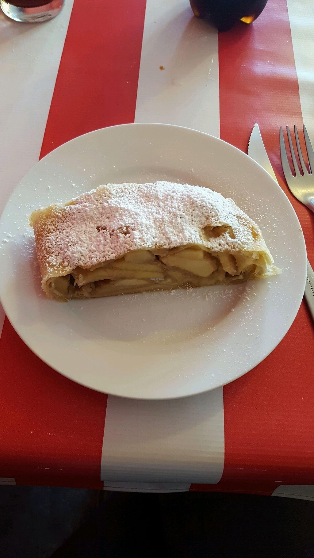 "Photo of Comida Naturista Irene's  by <a href=""/members/profile/VegRaluca"">VegRaluca</a> <br/>Strudel <br/> October 1, 2017  - <a href='/contact/abuse/image/37618/310568'>Report</a>"