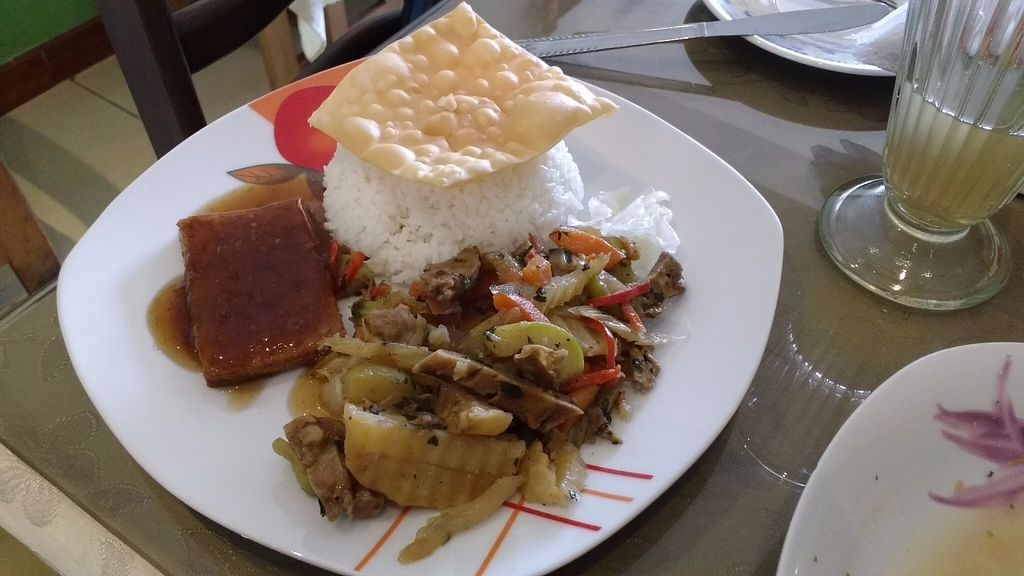"""Photo of Fu Lin Restaurante Vegetariano  by <a href=""""/members/profile/Marionvegan"""">Marionvegan</a> <br/>Main Course (Menu of the day) <br/> October 4, 2016  - <a href='/contact/abuse/image/37643/179763'>Report</a>"""