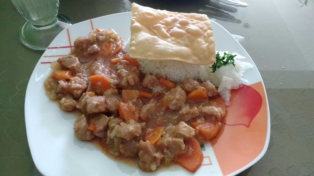 """Photo of Fu Lin Restaurante Vegetariano  by <a href=""""/members/profile/Marionvegan"""">Marionvegan</a> <br/>Main Course (Menu of the day) <br/> October 4, 2016  - <a href='/contact/abuse/image/37643/179764'>Report</a>"""