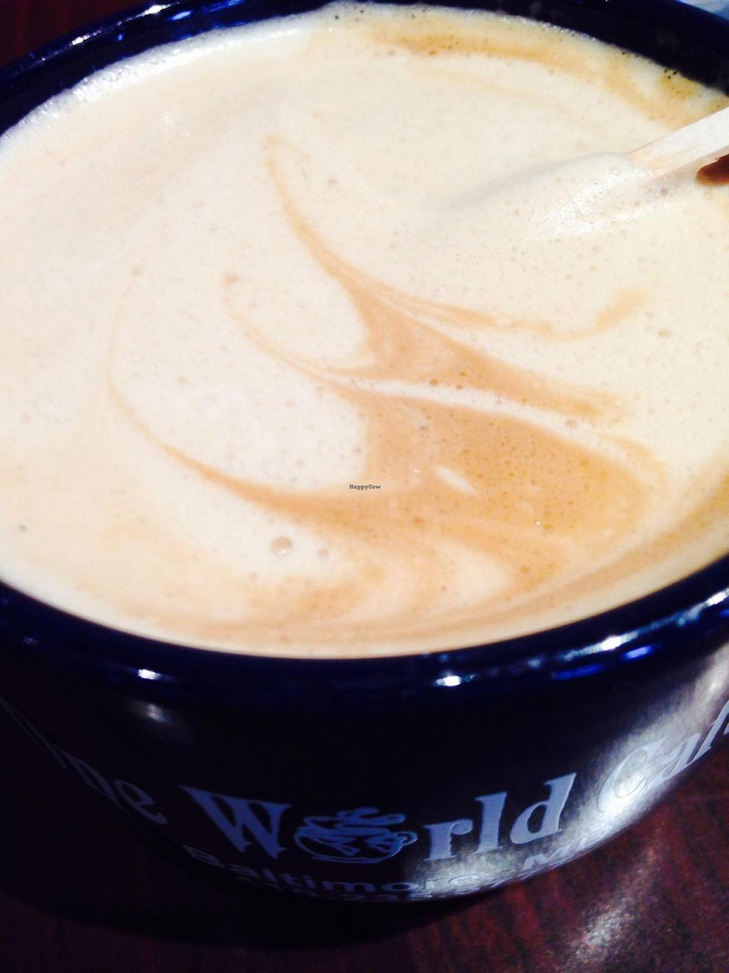 "Photo of One World Cafe  by <a href=""/members/profile/cookiem"">cookiem</a> <br/>Almond milk latte!! <br/> September 6, 2014  - <a href='/contact/abuse/image/3764/79215'>Report</a>"