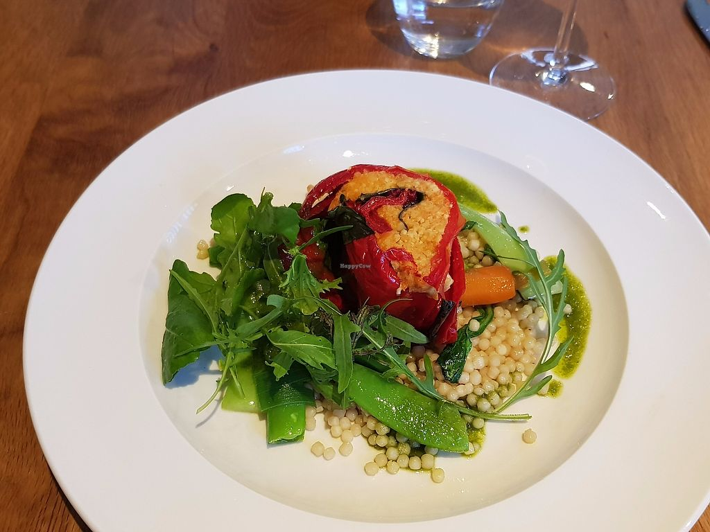 """Photo of Tierra Kitchen  by <a href=""""/members/profile/Chaizy"""">Chaizy</a> <br/>pepper roulade with giant cous cous <br/> July 10, 2017  - <a href='/contact/abuse/image/37673/278667'>Report</a>"""