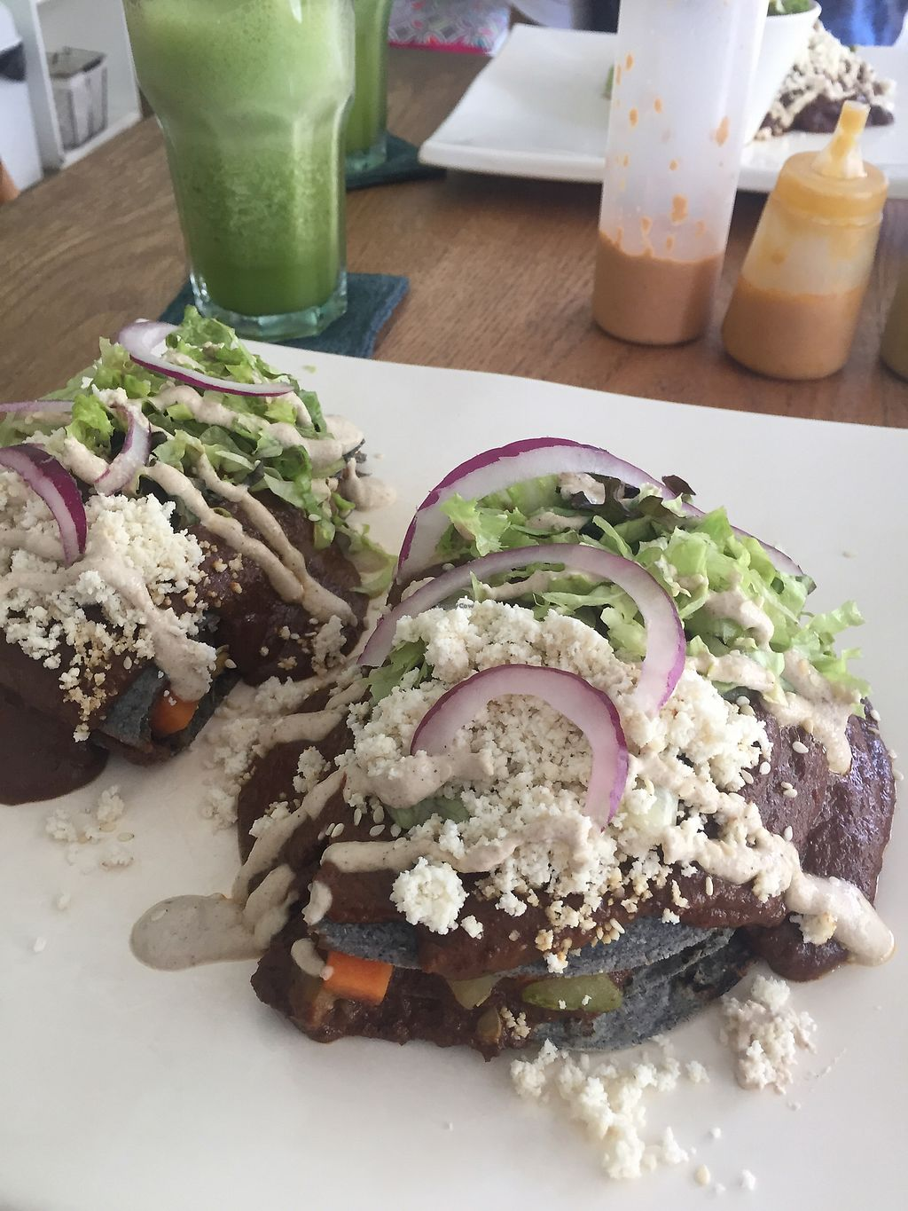 "Photo of La Senda Restaurante  by <a href=""/members/profile/Rynette"">Rynette</a> <br/>Aztec torta with mole sauce <br/> August 4, 2017  - <a href='/contact/abuse/image/37678/288447'>Report</a>"