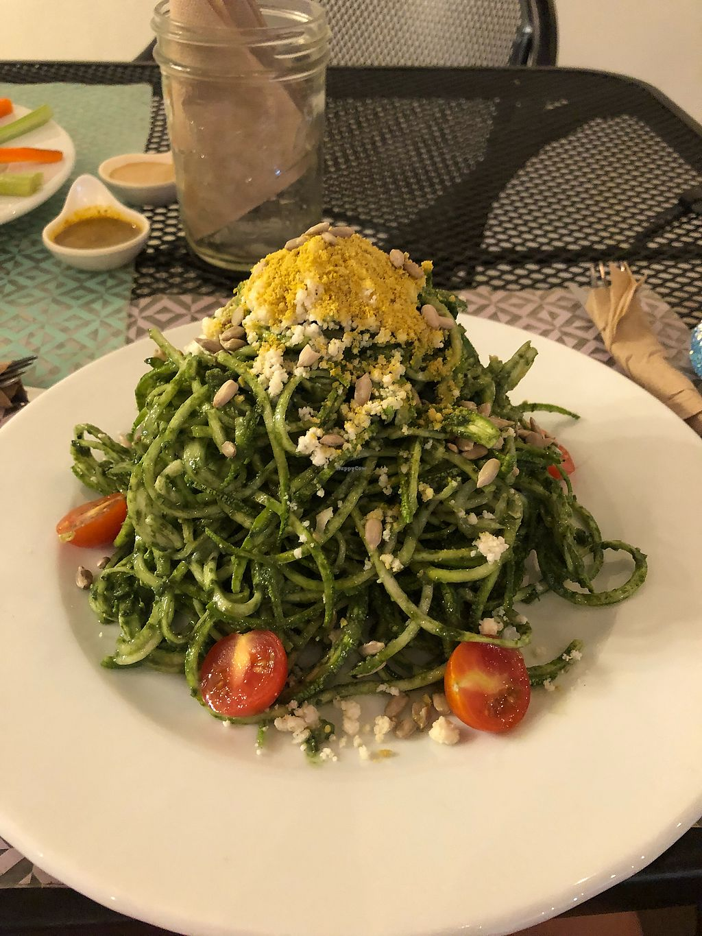 "Photo of La Senda Restaurante  by <a href=""/members/profile/natveganmermaid"">natveganmermaid</a> <br/>Raw pesto zucchini  <br/> May 7, 2018  - <a href='/contact/abuse/image/37678/396317'>Report</a>"