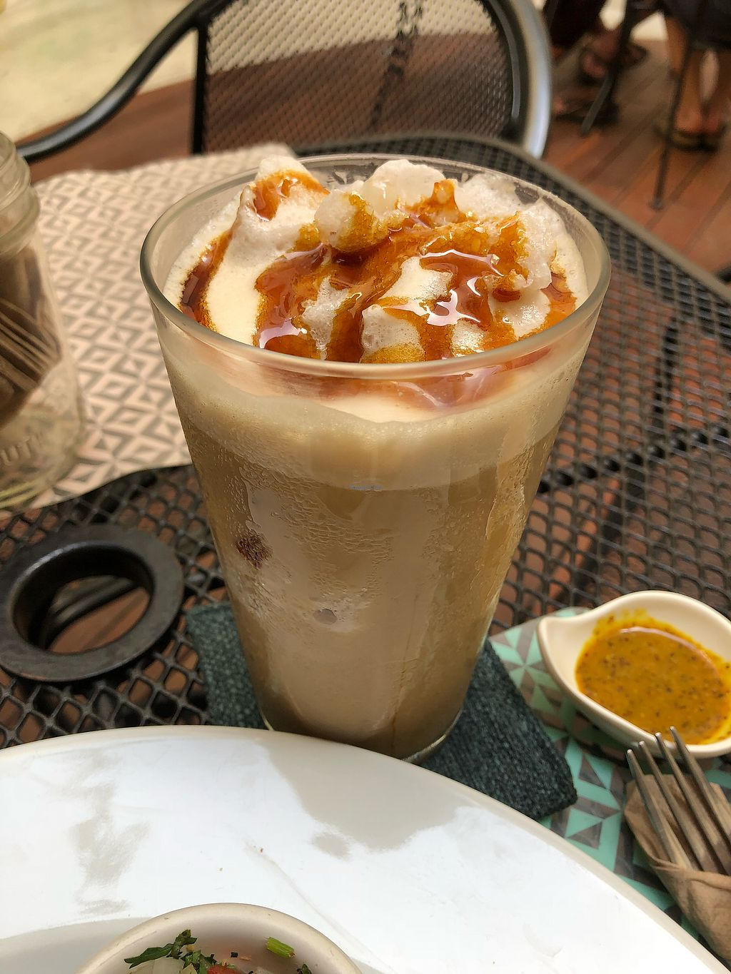 "Photo of La Senda Restaurante  by <a href=""/members/profile/natveganmermaid"">natveganmermaid</a> <br/>Iced coffee <br/> May 7, 2018  - <a href='/contact/abuse/image/37678/396318'>Report</a>"