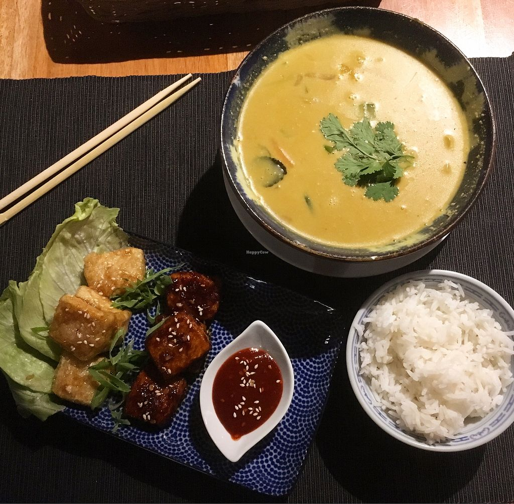 "Photo of Pod Norenami  by <a href=""/members/profile/MorganCrawford"">MorganCrawford</a> <br/>sweet potato curry and sticky tofu starter <br/> July 3, 2017  - <a href='/contact/abuse/image/37682/276329'>Report</a>"