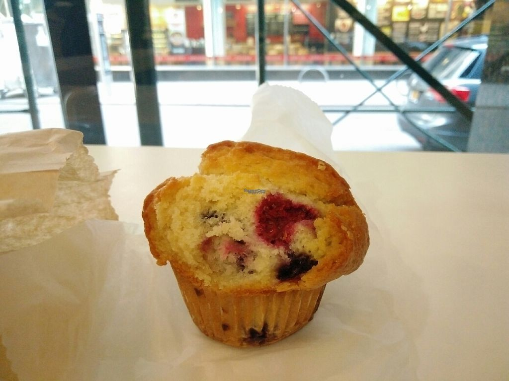 """Photo of Terri - Financial District  by <a href=""""/members/profile/martinicontomate"""">martinicontomate</a> <br/>blueberry and raspberry muffin <br/> April 22, 2017  - <a href='/contact/abuse/image/37685/251085'>Report</a>"""