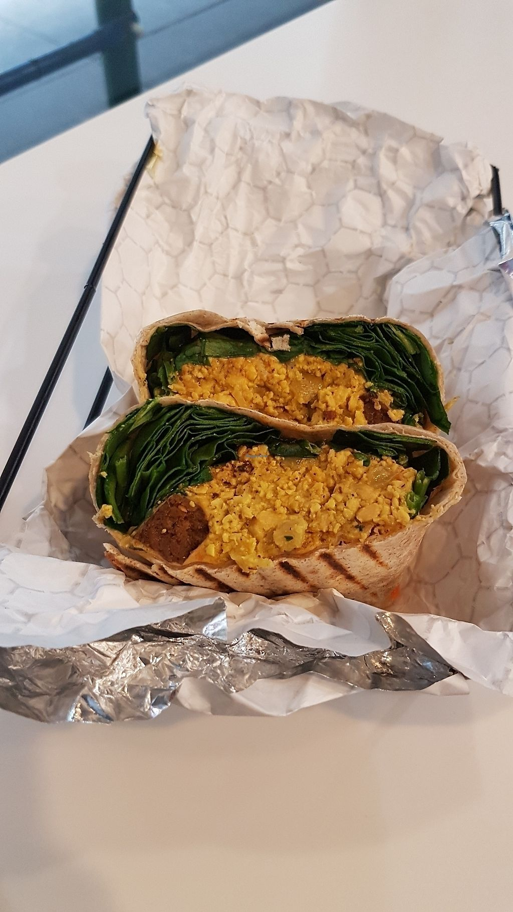 """Photo of Terri - Financial District  by <a href=""""/members/profile/NYCveganguide"""">NYCveganguide</a> <br/>breast burrito <br/> July 6, 2017  - <a href='/contact/abuse/image/37685/277245'>Report</a>"""