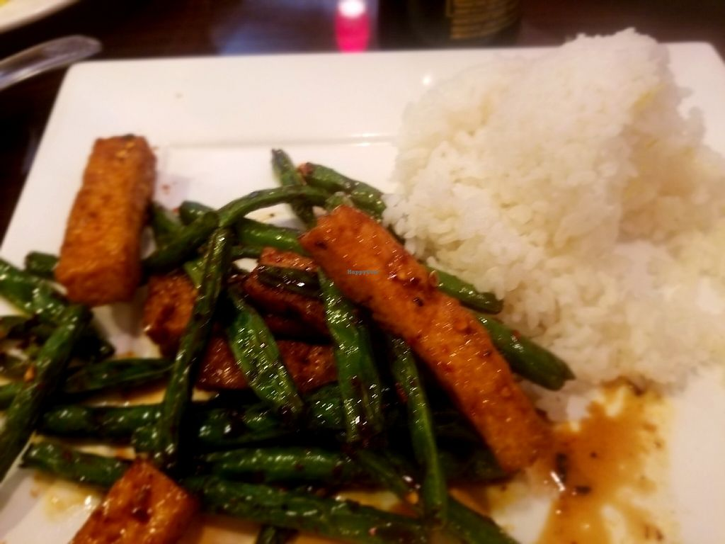 """Photo of Thai Mango Asian Bistro  by <a href=""""/members/profile/Silly%20Little%20Vegan"""">Silly Little Vegan</a> <br/>Mala String Beans with Tofu <br/> May 31, 2017  - <a href='/contact/abuse/image/37692/264652'>Report</a>"""