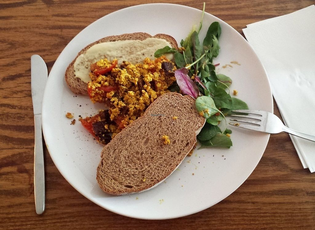 "Photo of DopHert  by <a href=""/members/profile/Jollyhamster"">Jollyhamster</a> <br/>Scrambled tofu with fried tempeh - mind-blowing experience <br/> June 4, 2017  - <a href='/contact/abuse/image/37702/265609'>Report</a>"