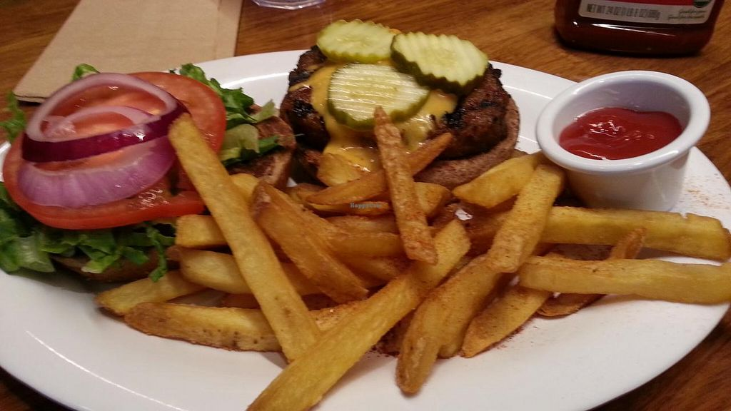 """Photo of Veggie Grill  by <a href=""""/members/profile/kenvegan"""">kenvegan</a> <br/>v cheese burger <br/> August 17, 2014  - <a href='/contact/abuse/image/37736/77322'>Report</a>"""