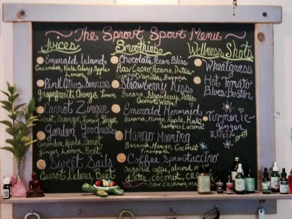 """Photo of The Sanibel Sprout  by <a href=""""/members/profile/happycowgirl"""">happycowgirl</a> <br/>phenomenal juices, smoothies & shots <br/> May 20, 2014  - <a href='/contact/abuse/image/37754/70401'>Report</a>"""