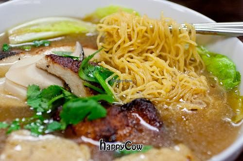"Photo of An Lac Duyen  by <a href=""/members/profile/spiceislandvegan"">spiceislandvegan</a> <br/>Egg noodle soup(no egg in the noodle) with smoked faux duck <br/> March 30, 2013  - <a href='/contact/abuse/image/37766/46278'>Report</a>"