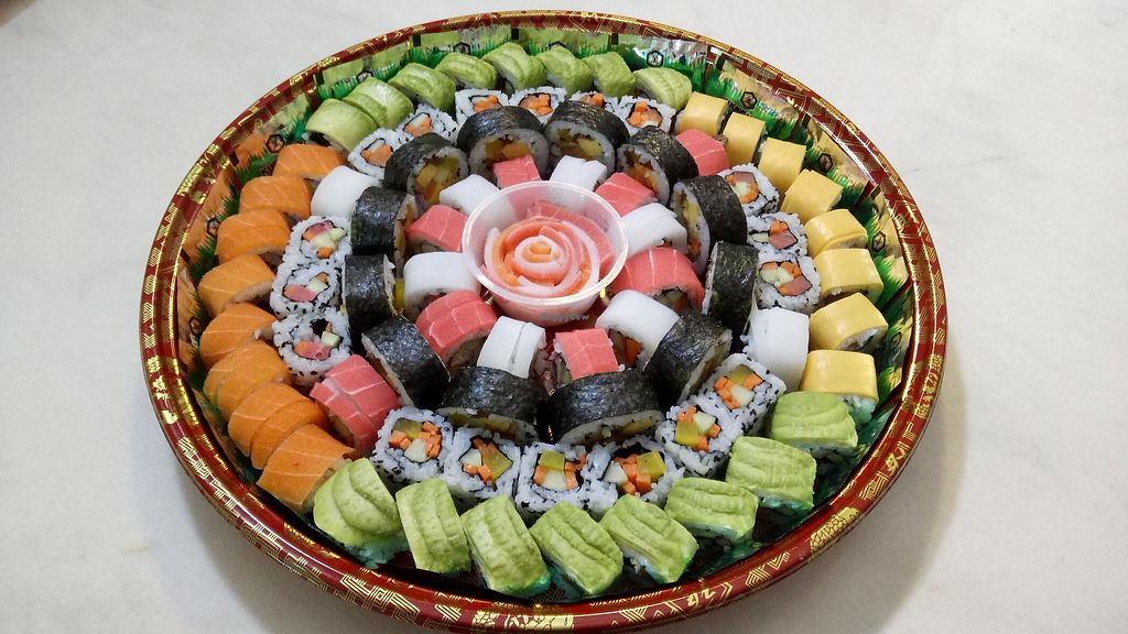 """Photo of Sam Poh Vegetarian House  by <a href=""""/members/profile/AlanHo"""">AlanHo</a> <br/>This Vegetarian Sushi caters for 70-80 people !  <br/> January 29, 2018  - <a href='/contact/abuse/image/37772/352204'>Report</a>"""