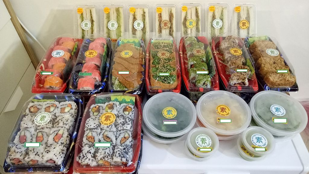 """Photo of Sam Poh Vegetarian House  by <a href=""""/members/profile/AlanHo"""">AlanHo</a> <br/>Range of Vegetarian Sushi for you to choose from ! <br/> January 29, 2018  - <a href='/contact/abuse/image/37772/352206'>Report</a>"""