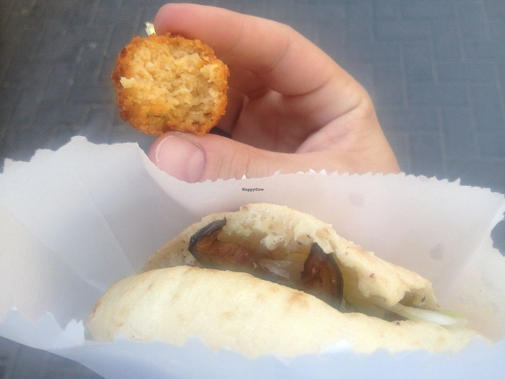 """Photo of Falafel Ovadia  by <a href=""""/members/profile/A.Z.P."""">A.Z.P.</a> <br/>Falafel from a Falafel in a Pita <br/> March 30, 2016  - <a href='/contact/abuse/image/37783/141882'>Report</a>"""