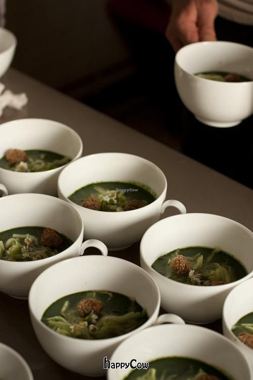 """Photo of Steinbeisser Experimental Gastronomy  by <a href=""""/members/profile/steinbeisser"""">steinbeisser</a> <br/>Steinbeisser Experimental Gastronomy Summer Edition took place from 6 - 8 July 2012. Nettle soup with cucumber, barley bread and eatable flowers <br/> April 7, 2013  - <a href='/contact/abuse/image/37816/46640'>Report</a>"""