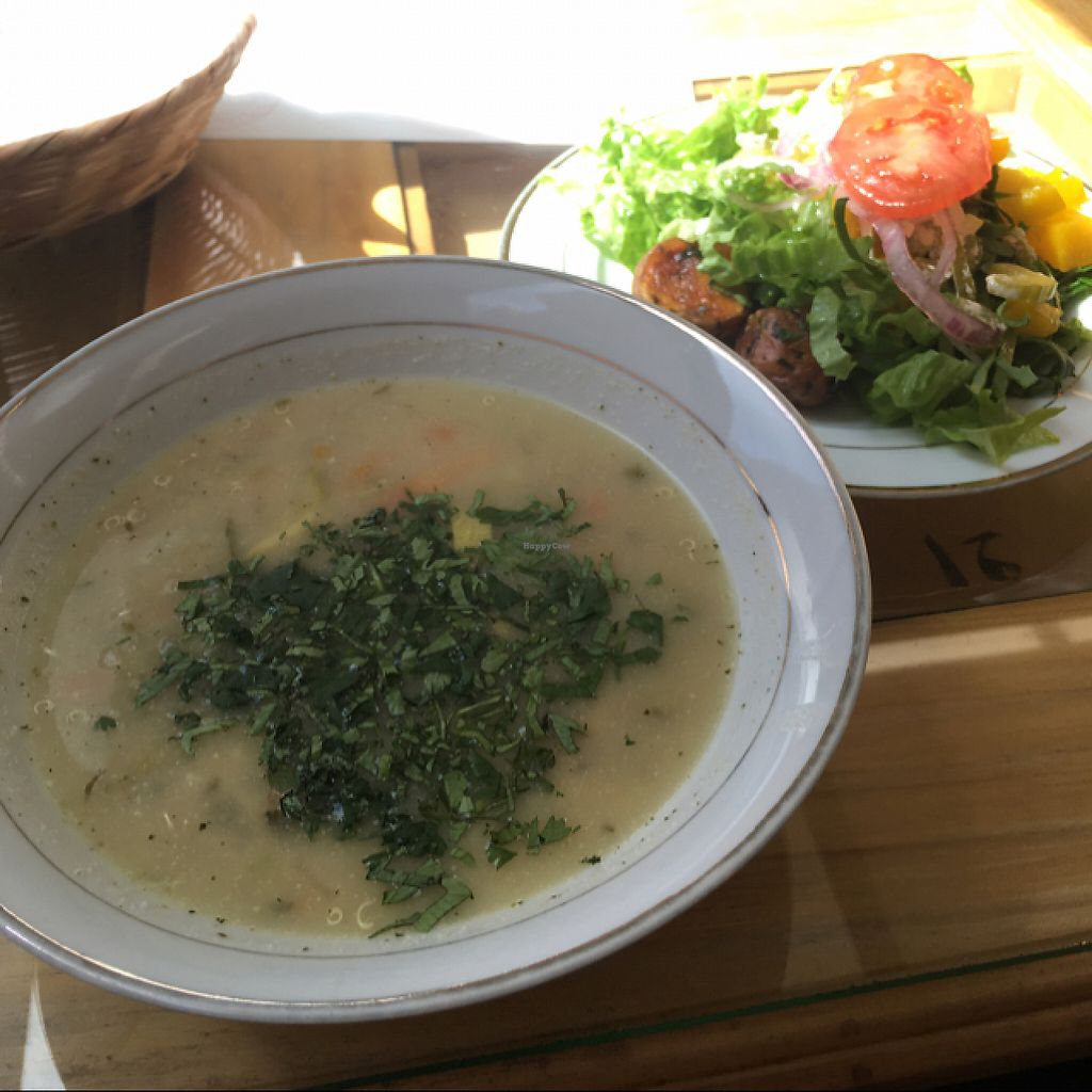 """Photo of Reencuentro con la Naturaleza  by <a href=""""/members/profile/flotschi"""">flotschi</a> <br/>soup and salad of the day <br/> May 20, 2017  - <a href='/contact/abuse/image/37820/260584'>Report</a>"""