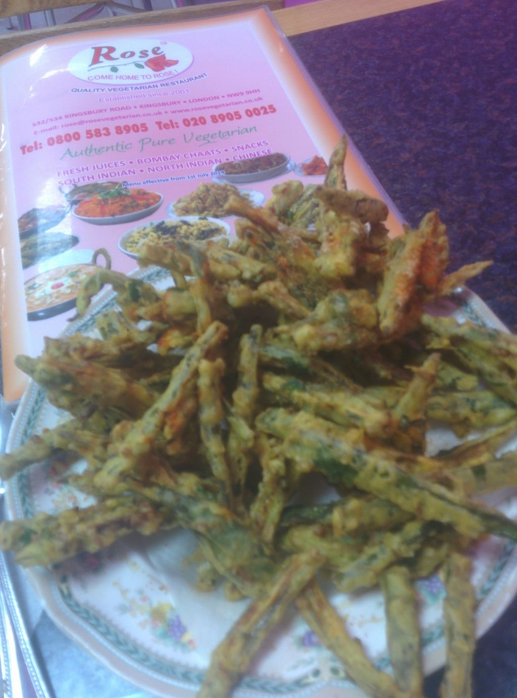 "Photo of Rose  by <a href=""/members/profile/Nw4vegan"">Nw4vegan</a> <br/>vegan crispy bhindi  <br/> February 23, 2016  - <a href='/contact/abuse/image/3782/137460'>Report</a>"