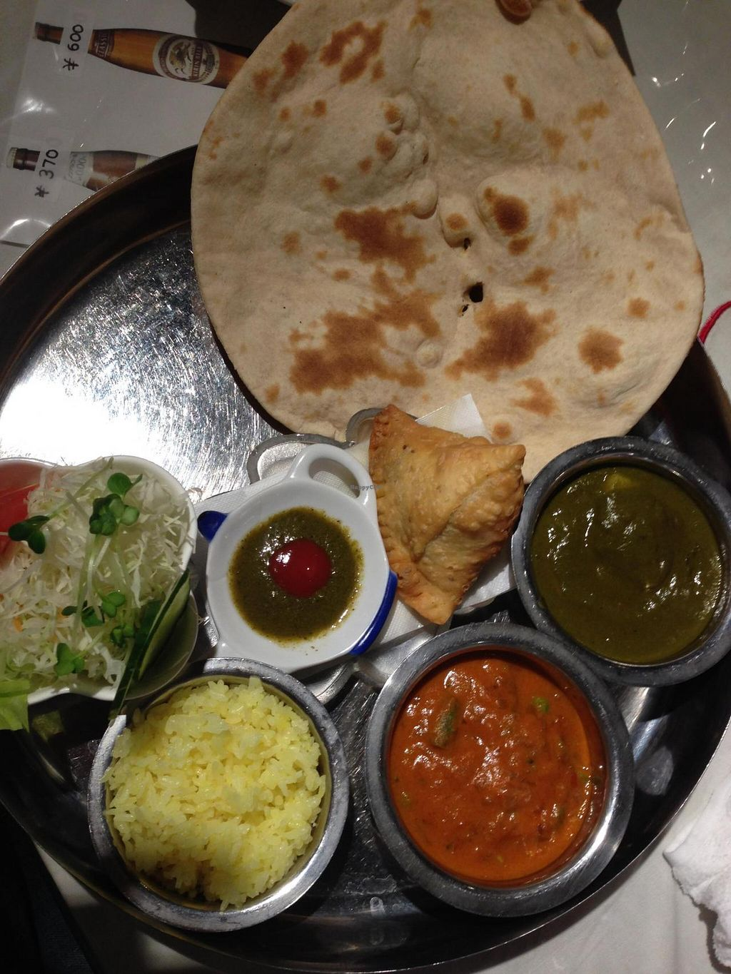 """Photo of Sri Lanka Kagoshima  by <a href=""""/members/profile/lovingkarma"""">lovingkarma</a> <br/>This is the vegetable dinner set. They were happy to make this vegan nan for me. :) <br/> July 21, 2014  - <a href='/contact/abuse/image/37844/74661'>Report</a>"""