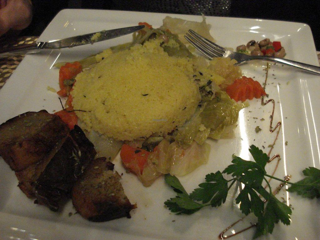 """Photo of Espaco Funchal  by <a href=""""/members/profile/IsaBissa"""">IsaBissa</a> <br/>Couscous with sweet potatoes, some beans and grilled vegetables <br/> January 19, 2014  - <a href='/contact/abuse/image/37846/62765'>Report</a>"""