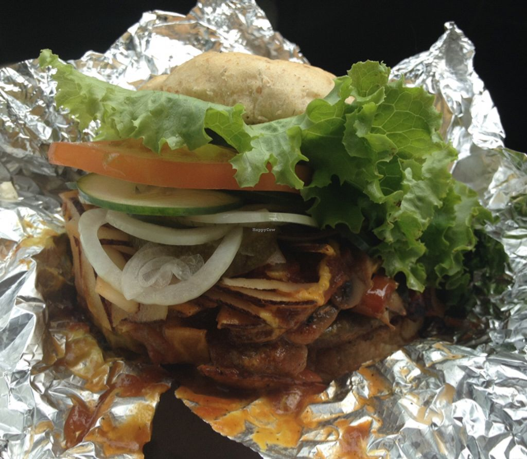 "Photo of Luv Burger  by <a href=""/members/profile/TheVeganYouth"">TheVeganYouth</a> <br/>Philly cheeseburger + coconut bacon to go. 10/10  <br/> December 5, 2015  - <a href='/contact/abuse/image/37854/127288'>Report</a>"