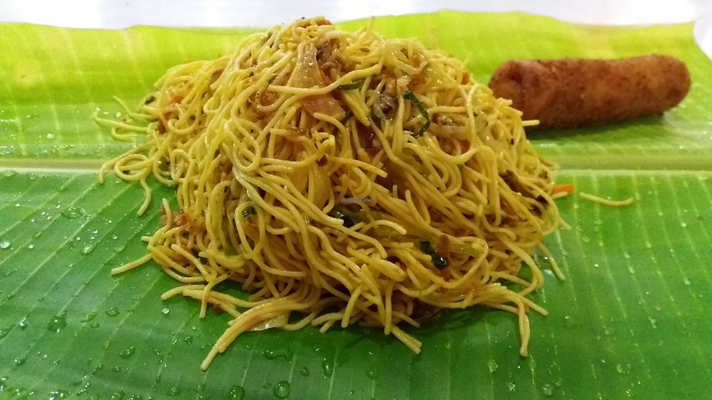 """Photo of Malayan Cafe  by <a href=""""/members/profile/huawhenua"""">huawhenua</a> <br/>Fried noodles served on a banana leaf at Malayan Cafe <br/> June 27, 2017  - <a href='/contact/abuse/image/37865/273970'>Report</a>"""