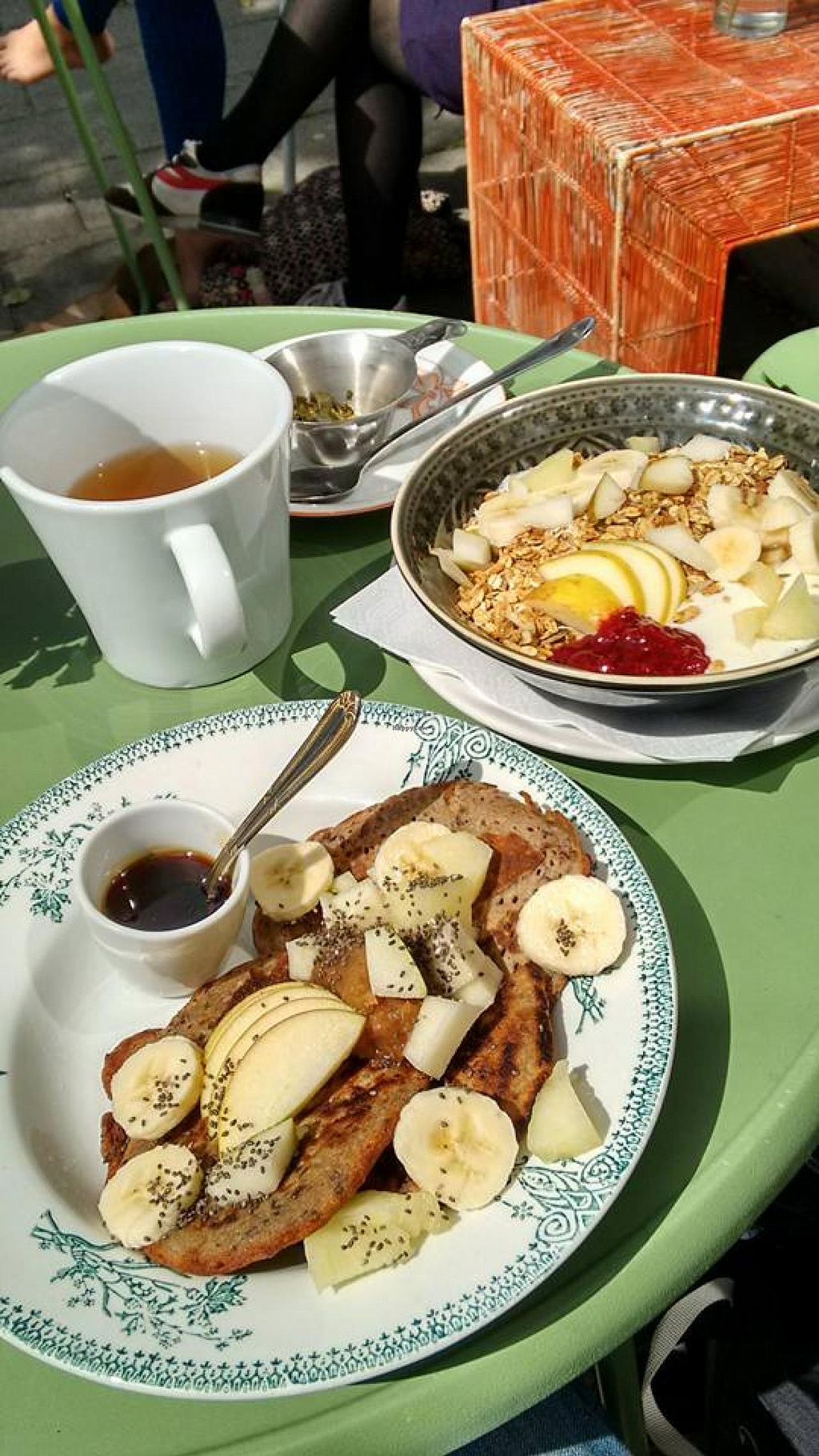 """Photo of Beter & Leuk  by <a href=""""/members/profile/StephenEamonn"""">StephenEamonn</a> <br/>Our brunch!  Buckwheat pancakes with so many toppings! Granola with soy yoghurt and a fruit mix <br/> June 1, 2015  - <a href='/contact/abuse/image/37875/104377'>Report</a>"""