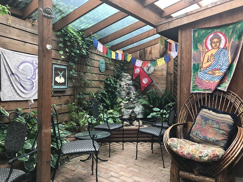 """Photo of Nepali Kitchen and Coffee House  by <a href=""""/members/profile/DebDewberry"""">DebDewberry</a> <br/>Patio in the back <br/> August 9, 2017  - <a href='/contact/abuse/image/37894/290921'>Report</a>"""