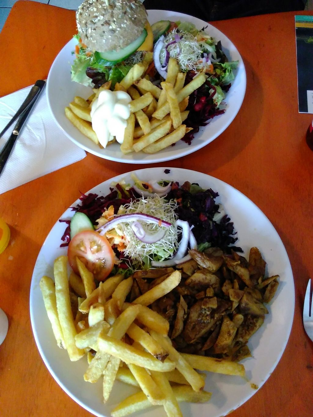 """Photo of De Vegetarische Snackbar  by <a href=""""/members/profile/Springofcompassion"""">Springofcompassion</a> <br/>Full plates - the 'before' <br/> September 9, 2017  - <a href='/contact/abuse/image/37902/302338'>Report</a>"""