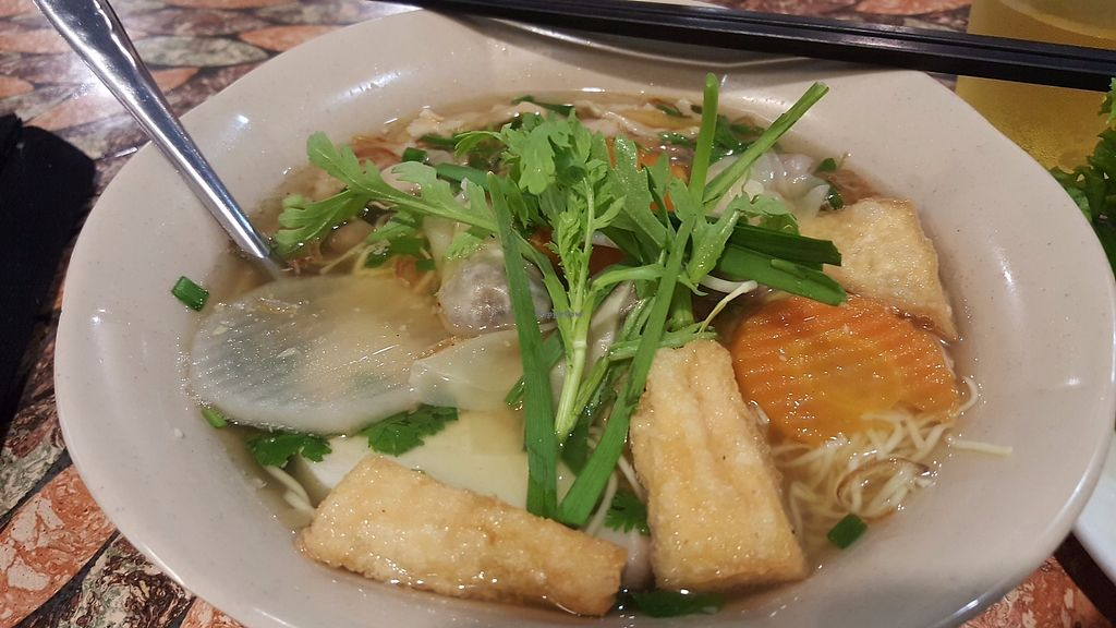 """Photo of Mani  by <a href=""""/members/profile/Refinnej"""">Refinnej</a> <br/>mi hoanh thanh (wonton soup with egg noodles) <br/> June 12, 2017  - <a href='/contact/abuse/image/37908/268526'>Report</a>"""