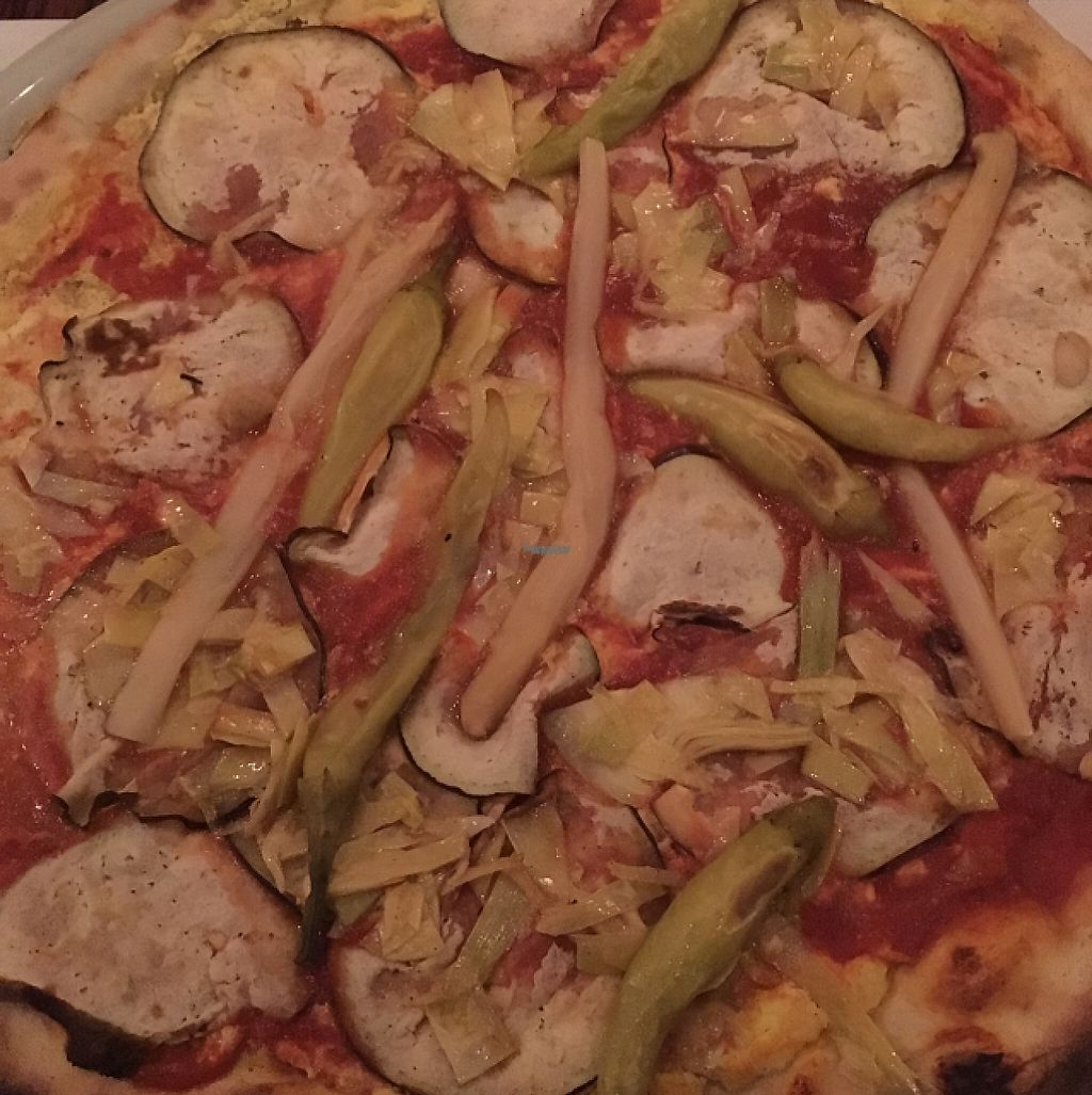 "Photo of Pizzeria Foculus  by <a href=""/members/profile/hokusai77"">hokusai77</a> <br/>vegan pizza with tofu, eggplant, asparagus, and chili peppers <br/> February 4, 2017  - <a href='/contact/abuse/image/37932/221982'>Report</a>"
