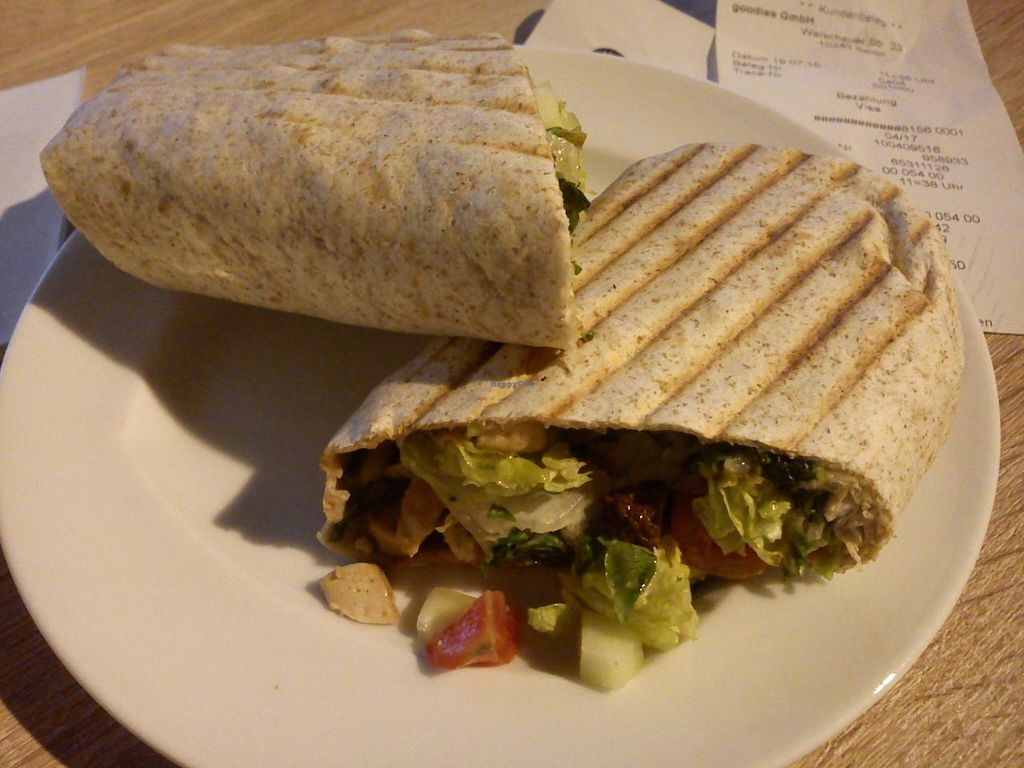 "Photo of Veganz - Berlin Friedrichshain  by <a href=""/members/profile/Rewsy"">Rewsy</a> <br/>Caeasar salad wrap with tofu <br/> July 23, 2015  - <a href='/contact/abuse/image/37940/110525'>Report</a>"