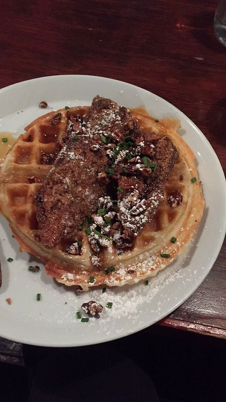 """Photo of The Grange  by <a href=""""/members/profile/happyhippieellie"""">happyhippieellie</a> <br/>vegan chicken n waffles! <br/> January 15, 2018  - <a href='/contact/abuse/image/37950/346976'>Report</a>"""